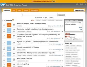 sqlanywhere-forum.sap.com screenshot