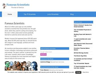 famousscientists.org screenshot