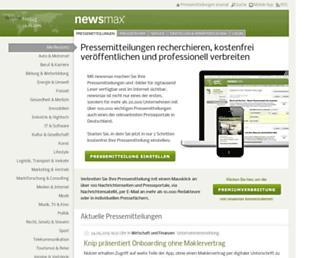 Main page screenshot of newsmax.de
