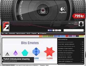 Main page screenshot of fz.se