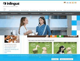 Main page screenshot of inlingua-muenchen.de