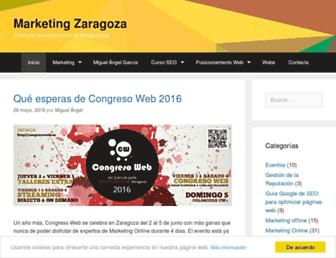 marketingzaragoza.es screenshot