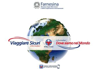 viaggiaresicuri.it screenshot