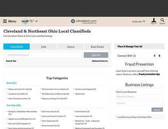 classifieds.cleveland.com screenshot