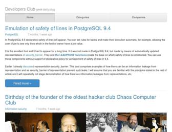 developers-club.com screenshot