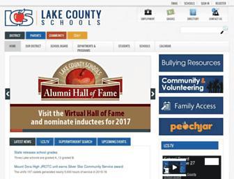 lake.k12.fl.us screenshot