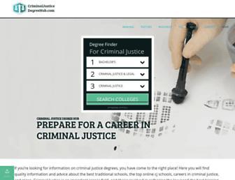 criminaljusticedegreehub.com screenshot
