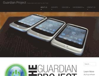 guardianproject.info screenshot