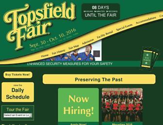 Main page screenshot of topsfieldfair.org