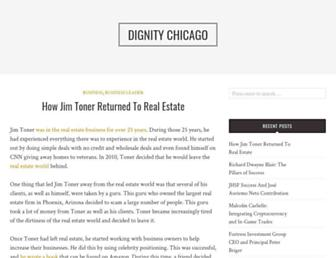 Main page screenshot of dignitychicago.org