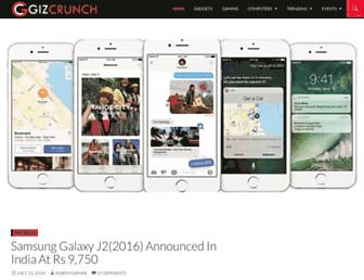 gizcrunch.com screenshot