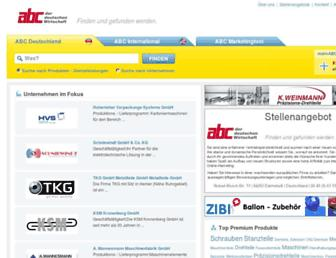 Main page screenshot of abconline.de