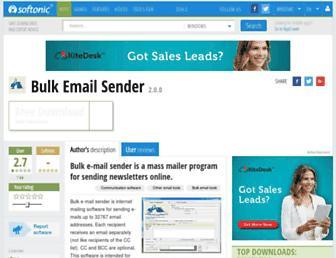 bulk-email-sender.en.softonic.com screenshot