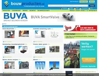 Main page screenshot of bouwproducten.nl