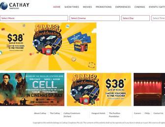Thumbshot of Cathaycineplexes.com.sg