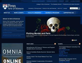 sas.upenn.edu screenshot