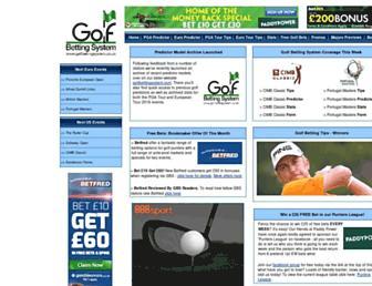 Main page screenshot of golfbettingsystem.co.uk