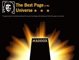 Main page screenshot of thebestpageintheuniverse.net