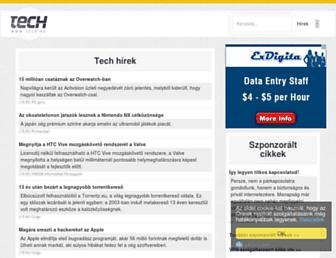 Main page screenshot of tech.hu