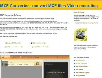 convertmxffiles.com screenshot