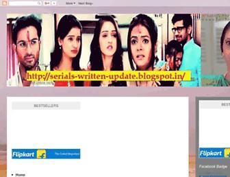 serials-written-update.blogspot.com screenshot