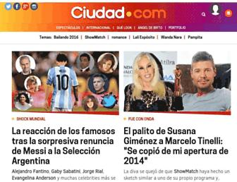 Main page screenshot of ciudad.com.ar