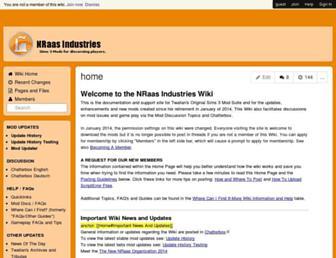 nraas.wikispaces.com screenshot