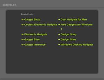 Main page screenshot of gadgets.ph