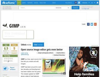 gimp.en.softonic.com screenshot