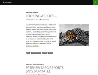 Main page screenshot of rob-the.geek.nz