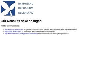 nationaalherbarium.nl screenshot