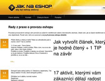 Thumbshot of Jak-na-eshop.cz