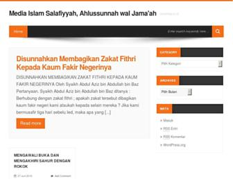 Main page screenshot of almanhaj.or.id