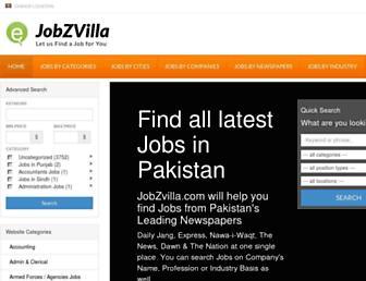 Thumbshot of Jobzvilla.com
