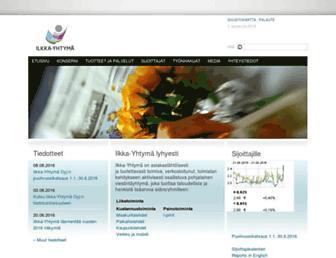 Main page screenshot of ilkka-yhtyma.fi