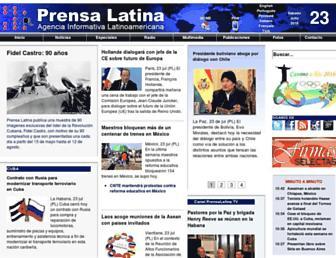 Main page screenshot of prensa-latina.cu