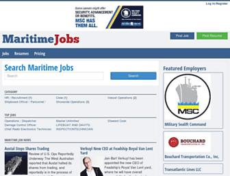 maritimejobs.com screenshot
