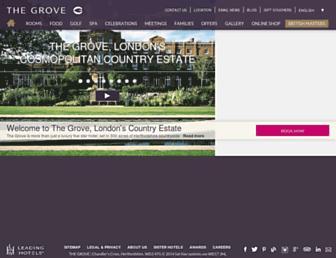 thegrove.co.uk screenshot