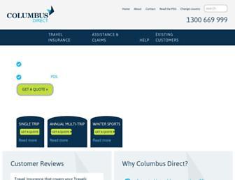 columbusdirect.com.au screenshot