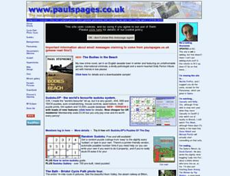 paulspages.co.uk screenshot