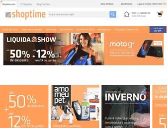 shoptime.com.br screenshot