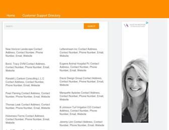 addresscustomerservicecenternumber.com screenshot