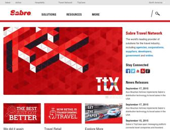 sabretravelnetwork.com screenshot
