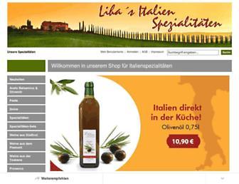 Main page screenshot of liha-shop.de