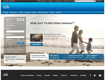 online.citi.com screenshot