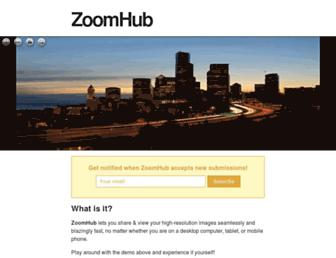 Main page screenshot of zoom.it