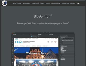 Main page screenshot of bluegriffon.org