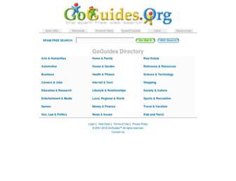 Main page screenshot of goguides.org