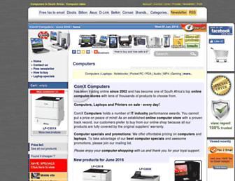 comx-computers.co.za screenshot