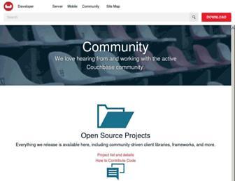 Main page screenshot of membase.org